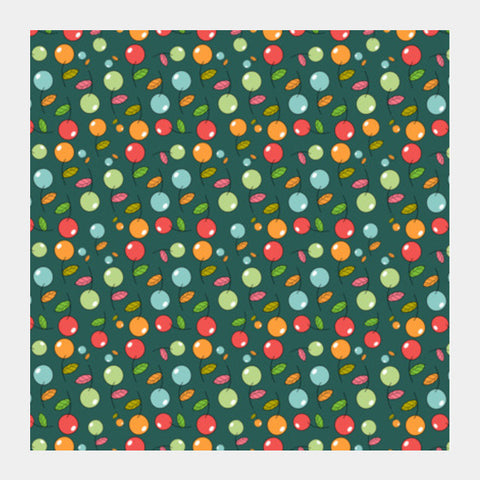 Cherry Fruit Seamless Pattern Square Art Prints PosterGully Specials