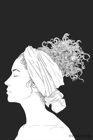 Calm Face Curly Hair Artwork