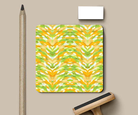 Cool Abstract Citrus Color Waves Pattern Coasters | Artist : Seema Hooda