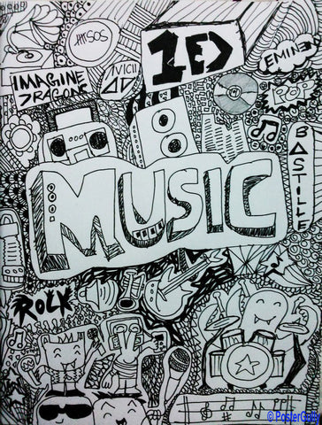 Wall Art, Imagine Music Artwork | Artist: Aishwarya Girish Menon, - PosterGully - 1