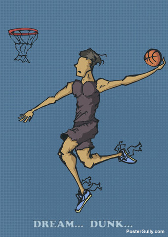 Wall Art, Dream Dunk Artwork | Artist: Abhishek Singh, - PosterGully - 1