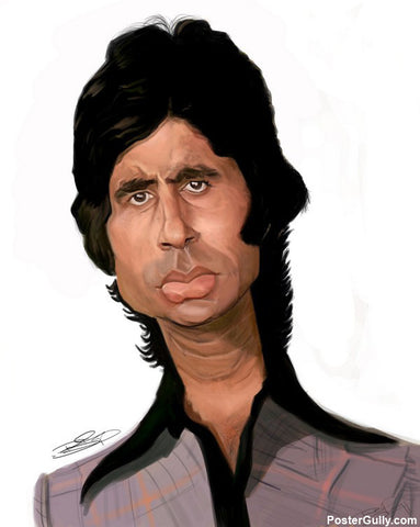 Wall Art, Amitabh Bachchan Artwork | Artist: Sri Priyatham, - PosterGully - 1