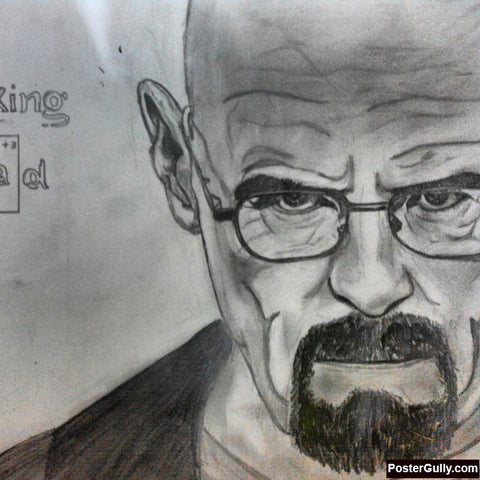 Square Art Prints, Breaking Bad Sketch Artwork | Artist: Salman Jamadar, - PosterGully
