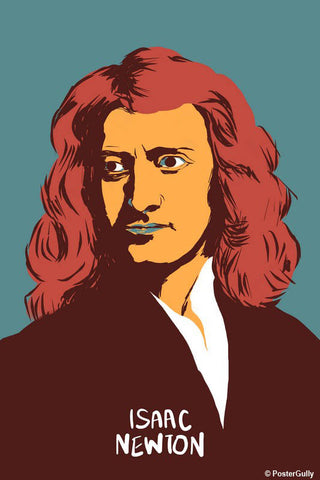 Wall Art, Isaac Newton Science Portrait, - PosterGully - 1