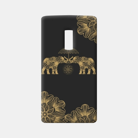 Gold Elephant One Plus Two Cases | Artist : Tiny Dots