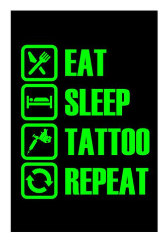 PosterGully Specials, Eat Sleep Tattoo Repeat Wall Art | Artist : Vaishak Seraphim, - PosterGully
