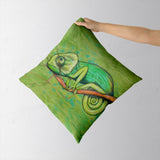 green chameleon Cushion Covers | Artist : federico cortese
