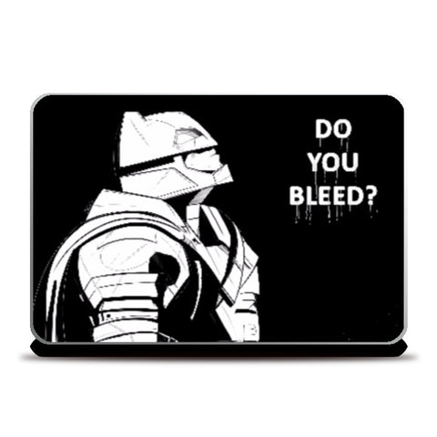 Laptop Skins, Batman Do You Bleed Black and White Laptop Skin | Artist: Sachin Sivakumaran, - PosterGully