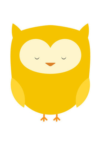 Cute Yellow Owl Art PosterGully Specials