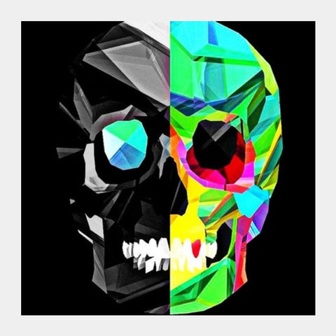 skull Square Art Prints | Artist : avanthi amarnath