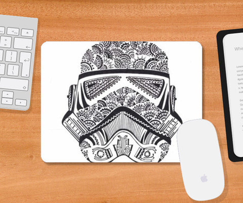 doodle,storm trooper,black and white Mousepad | Artist : All the randomness