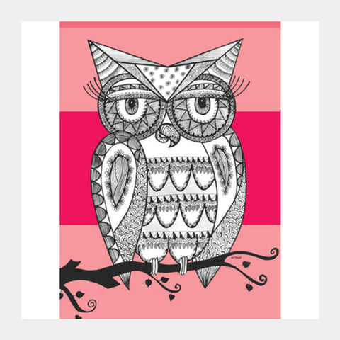 Square Art Prints, ullu Square Art Prints | Artist : Vanya Verma, - PosterGully