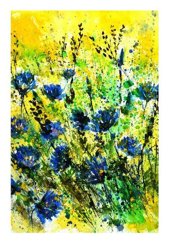 PosterGully Specials, blue cornflowers watercolor Wall Art | Artist : pol ledent | PosterGully Specials, - PosterGully