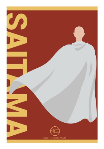 Wall Art, One Punch Man Saitama Wall Art | Artist : Mohak Gulati, - PosterGully
