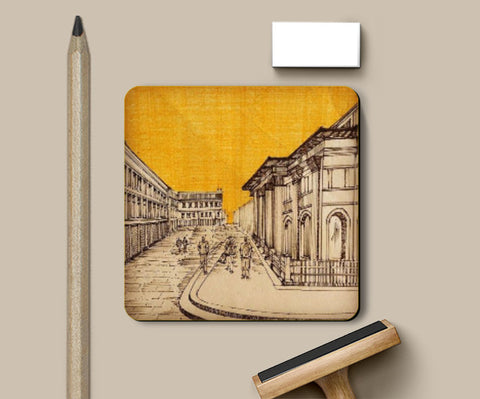 Coasters, Glasgow Diaries | Ink Trails Coaster | Artist: Archana Narendran, - PosterGully