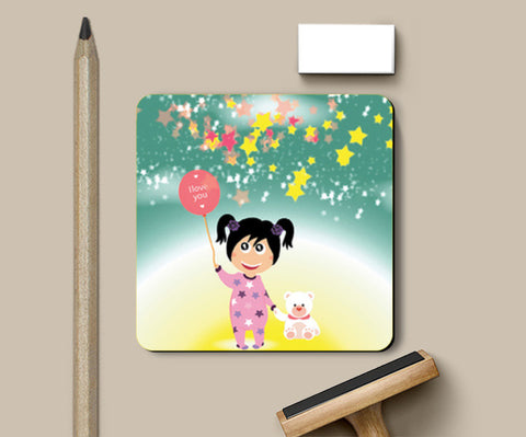 Coasters, Moon Girl Coasters | Artist : Vidhisha Kedia, - PosterGully