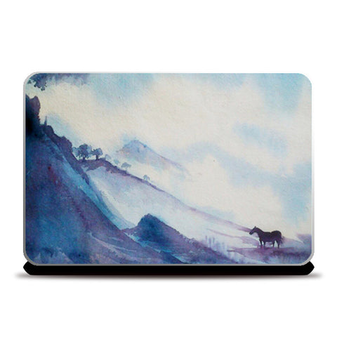 The Mountain Horse | Watercolor Artwork Laptop Skins | Artist : Neha Karnik