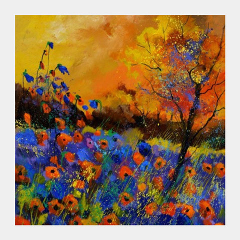 Square Art Prints, poppies 6751 Square Art Prints | Artist : pol ledent, - PosterGully