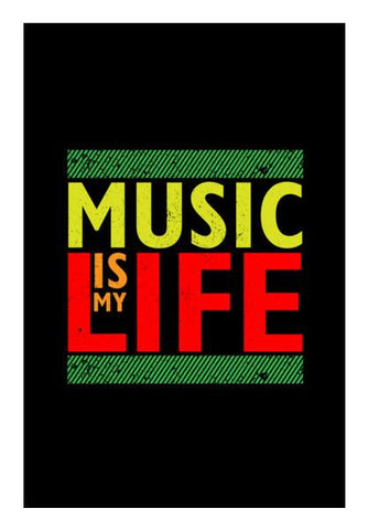 PosterGully Specials, Music is my life Wall Art | Artist : Designerchennai, - PosterGully