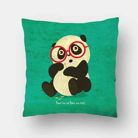 Cushion Covers, panda love me or not Cushion Covers | Artist : abhijeet sinha, - PosterGully