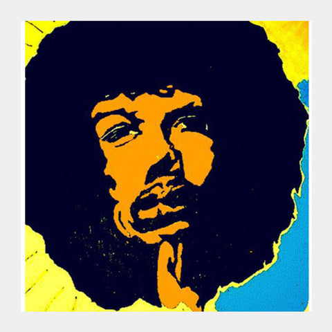 Square Art Prints, HENDRIX ART Square Art Prints | Artist : akash biyani, - PosterGully