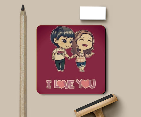 I love you Coasters | Artist : Anushree Jaiswal