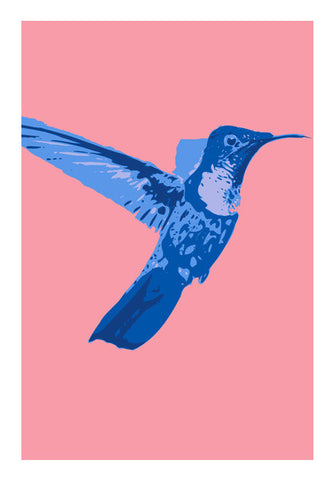 Wall Art, Abstract humming bird blue Wall Art | Artist : Keshava Shukla, - PosterGully