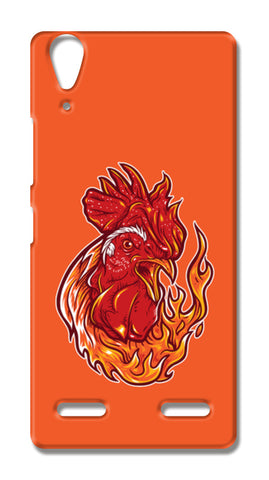 Rooster On Fire Lenovo A6000 Cases | Artist : Inderpreet Singh