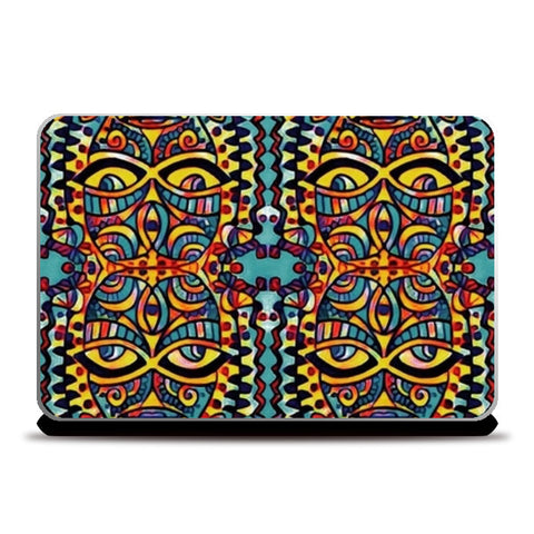 many faced Laptop Skins | Artist : Himani Chhabra