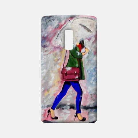 A walk in rain  One Plus Two Cases | Artist : Pallavi Rawal