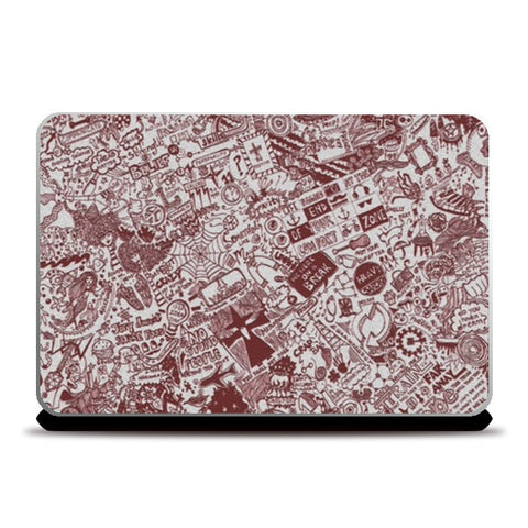 Laptop Skins, Endless Doodle Laptop Skins | Artist : Sukanya Chakraborty, - PosterGully