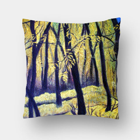 Cushion Covers, Golden Winter Cushion Cover | Raji Chacko, - PosterGully