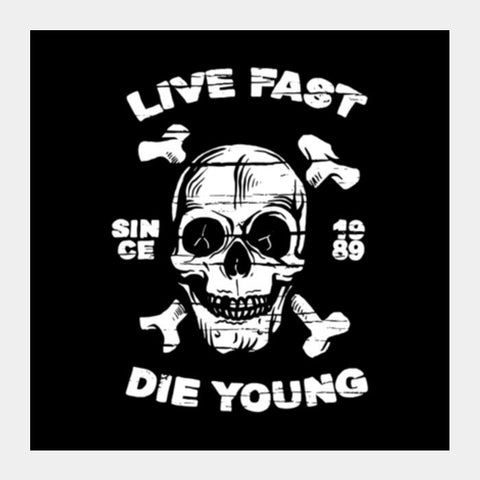 Live Fast 2 Square Art Prints PosterGully Specials