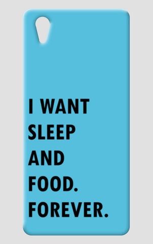 SLEEP AND FOOD. One Plus X Cases | Artist : Shruti aggarwal