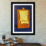 The Scroll Premium Italian Wooden Frames | Artist : kartikey sharma