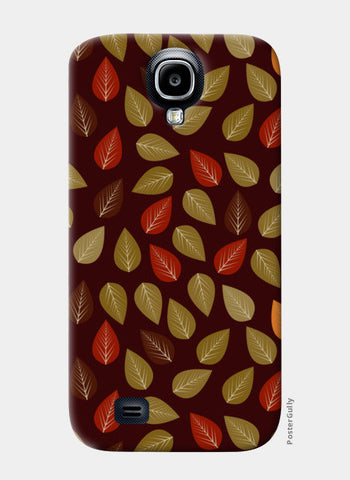 Seamless pattern with multicolored leaf on dark background Samsung S4 Cases | Artist : Designerchennai