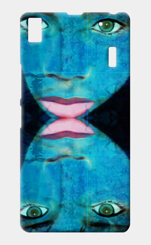 True Perception - Blue Eyes Pink Lips Lenovo K3 Note Cases | Artist : Rameshwar Chawla