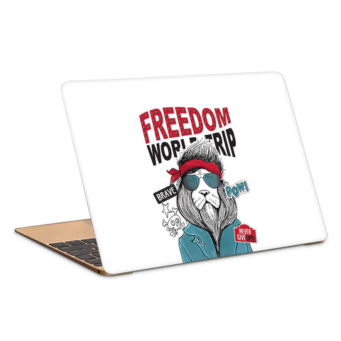 Cool Lion In Aviators Artwork Laptop Skin