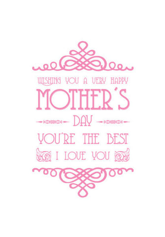 Beautiful Mother's Day Typography Art PosterGully Specials