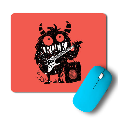 Rock Monster Guitar Pop Art Mousepad