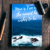 Freedome Motivational Quote Notebook | Artist : Aditya Gupta