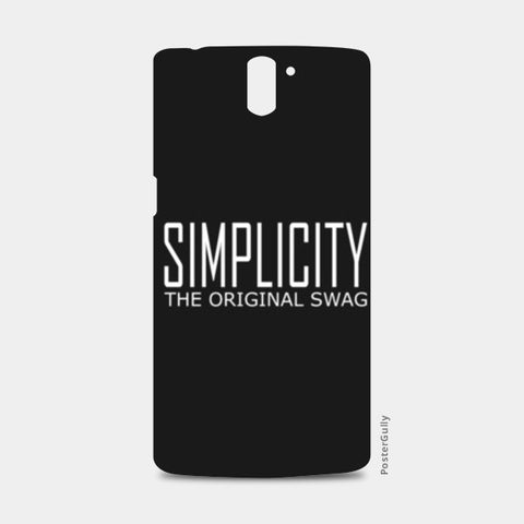 simple is swag One Plus One Cases | Artist : Keshava Shukla