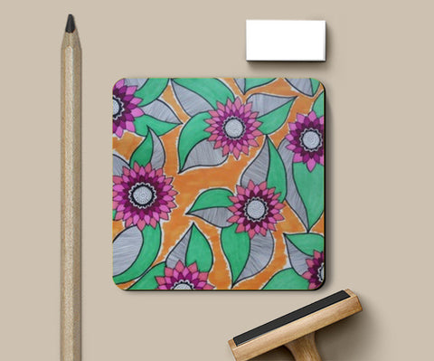 Coasters, Full Bloom Coasters | Artist : Kathak Trivedi, - PosterGully