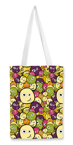 Doodle characters pattern Tote Bags | Artist : Designerchennai