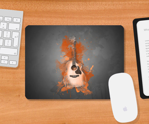 Guitar Splash – Orange Mousepad | Artist : Darshan Gajara's Artwork