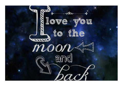 Moon And Back Art PosterGully Specials