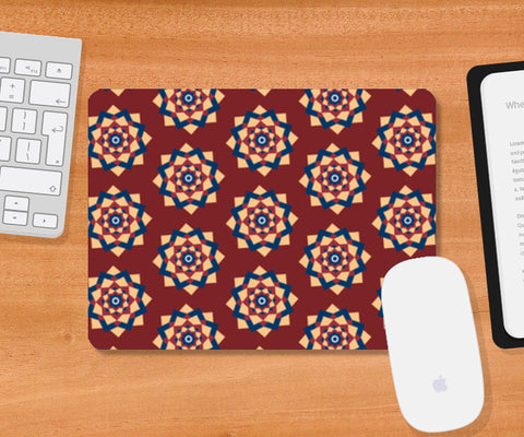 Tribal Geometric Mandala Indian Pattern Mousepad | Artist : Seema Hooda