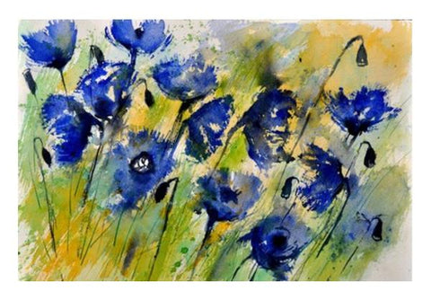 PosterGully Specials, blue flowers Wall Art  | Artist : pol ledent, - PosterGully