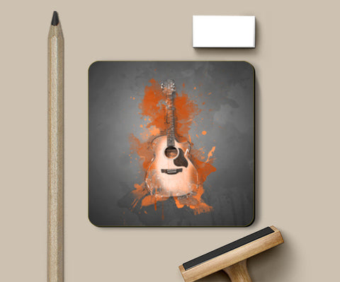 Guitar Splash – Orange Coasters | Artist : Darshan Gajara's Artwork