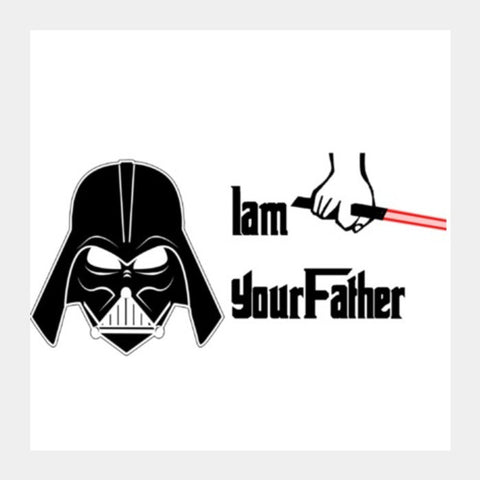 Square Art Prints, Darth Vader - I am your father. Star Wars Square Art Prints | Artist : Nupur Joshi, - PosterGully